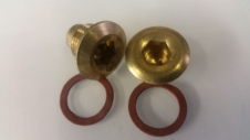 DRAIN PLUG AND OIL LEVEL PLUG  (BRASS)